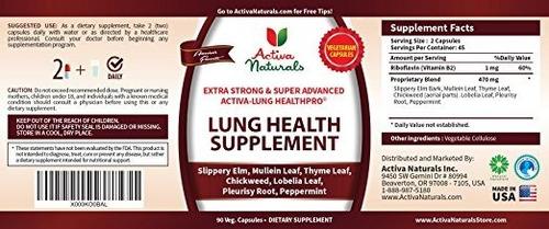 activa naturals lung health supplement lobelia