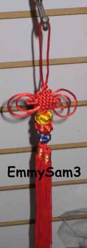 activador nudo mistico / nudo sin fin x 2 piezas -feng shui