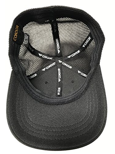 Active Duty Gear Condor Flex Mesh Cap, Black Mas Flag Parch