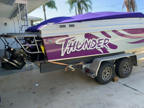 active thunder 25' speed boat - 502 super charged - 81 mph