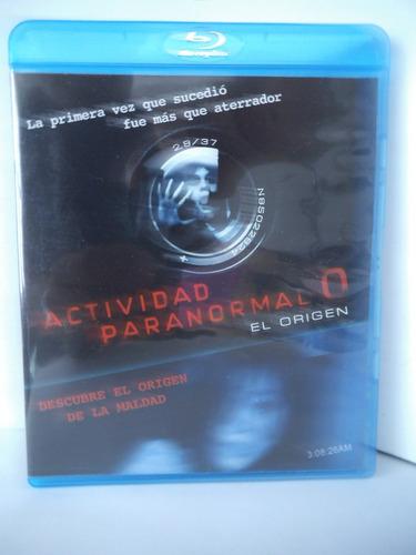 actividad paranormal 0 el origen blu ray disc terror