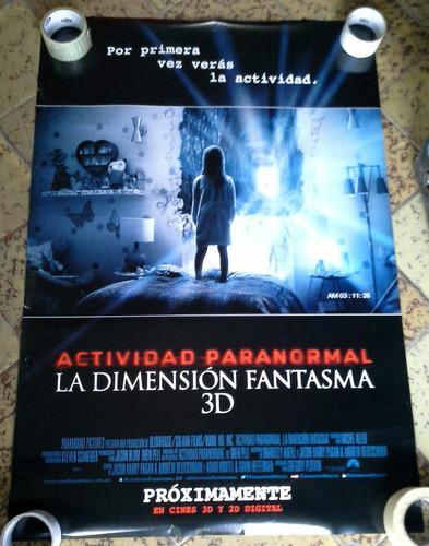 actividad paranormal poster de pelicula