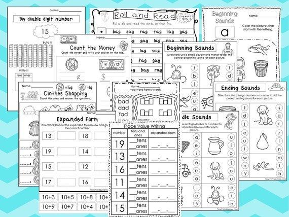 Actividades Imprimibles Matematicas Y Alfabeto, Para Niños - $ 79.00 ...