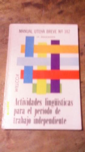 actividades lingüisticas para el período de trabajo