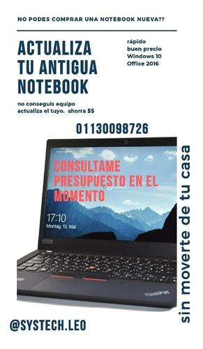 actualiza tu notebook al más bajo precio.