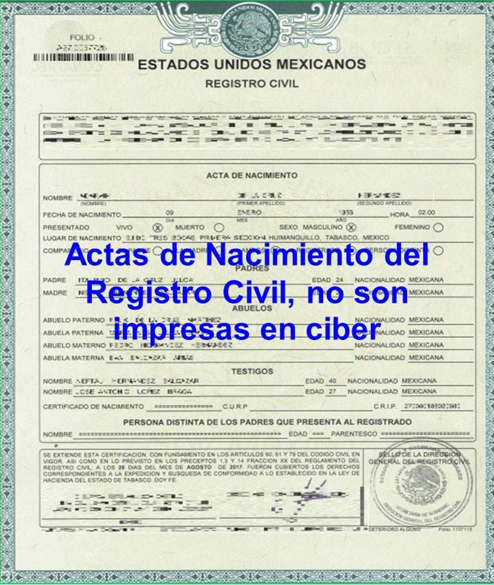 Atractivo Certificado De Nacimiento Somerville Elaboración - Cómo ...