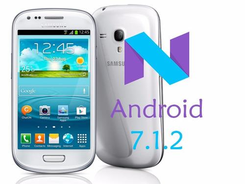 actualización galaxy s3 mini i8190 android 7.1.2