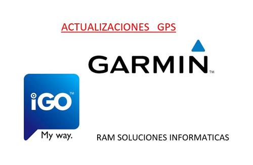 actualizacion gps garmin igo sist multimedia zona norte 2018