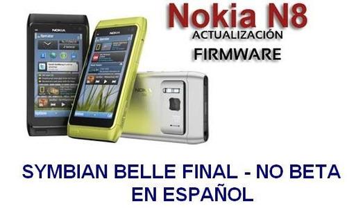 actualizacion nokia n8 symbian belle final todo en español