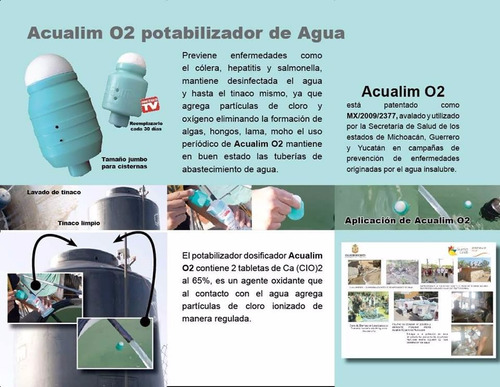 acualim jumbo desinfectante para tinacos y cisternas