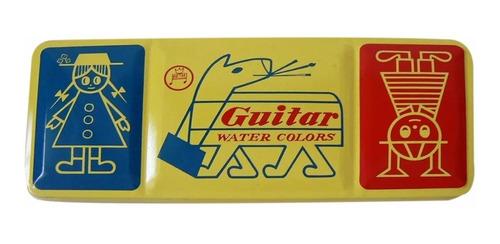 acuarela profesional guitar x 12 colores estuche metalico