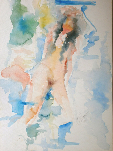 acuarelas carlos luis jácome, año 1990, conjunto de 8 obras
