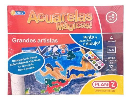 acuarelas magicas set arte grandes artistas plan z cuotas