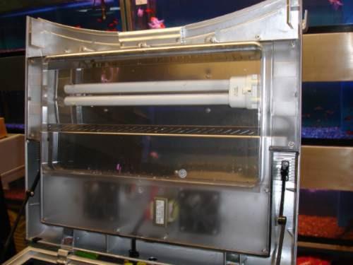 acuario 80 litros de cristal curvo