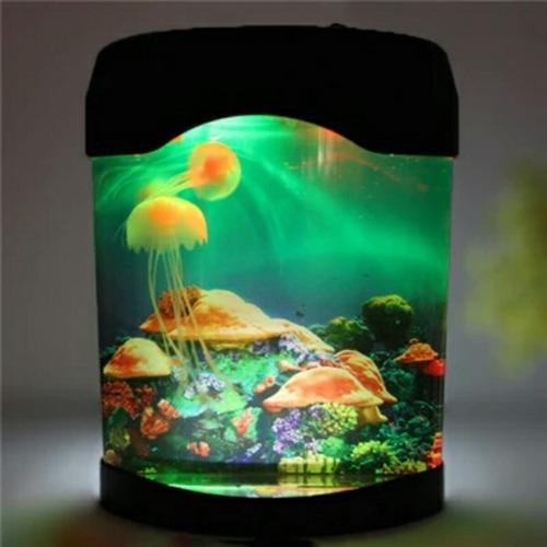 acuario con medusas movimiento kit decoracion relajación