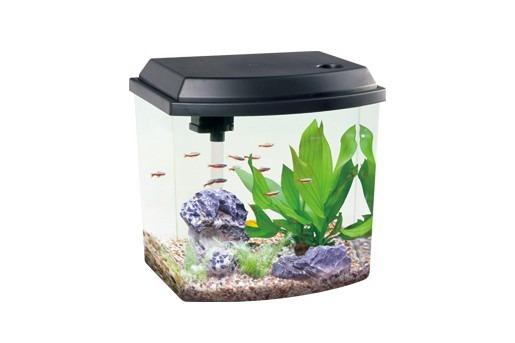 acuario curvo resun lc10 d 10 litros led y filtro de lujo