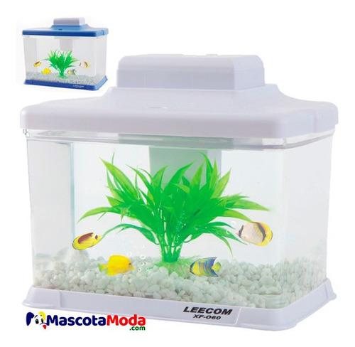 acuario plastico completo con tapa iluminacion filtro decora