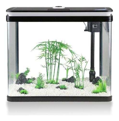 acuario sunsun con tapa 52 litros con luz y filtro pethome