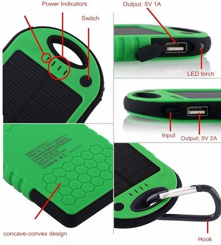 acuatico solar power bank duo