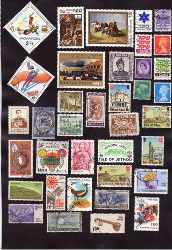 acumulação com 45 selos mundiais diferentes, bons países!