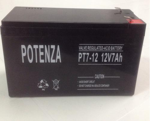 acumulador 12v 7ah potenza, para energizadores y ups