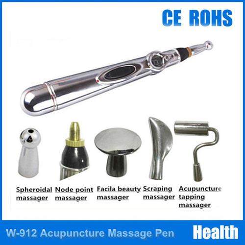 acupuntura electrónica del masaje pluma con 5 masaje cabeza