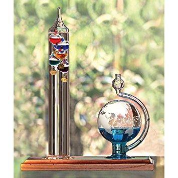 acurite  a2 termómetro de galileo con el globo de cristal d