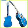 Guitarra Electroacústica California Azul De 2 Bandas