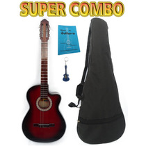 Super Combo De Guitarra Acústica, Manual Y Llavero