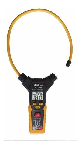 ad-5200 alicate amperímetro digital icel display (lcd) duplo