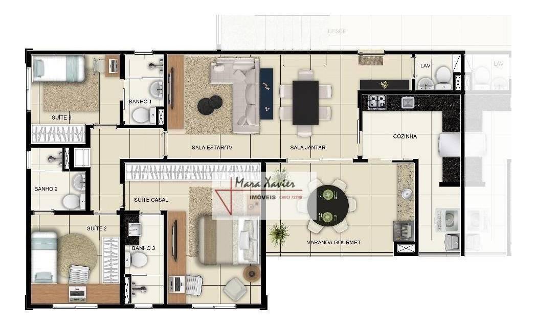 ad0002 apto cobertura duplex, varanda gourmet vinhedo  - ad0002