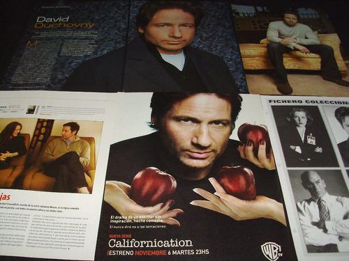 (ad014) david duchovny * recortes revistas clippings