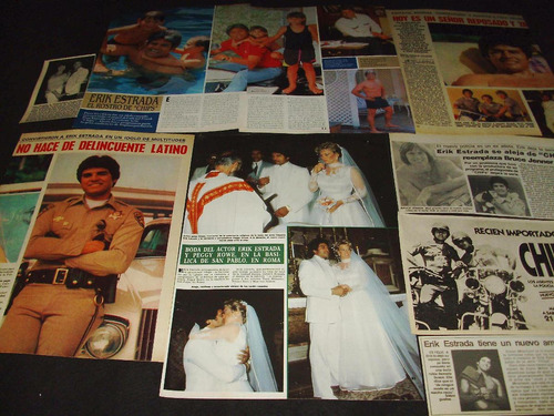 (ad016) erik estrada * recortes revistas clippings