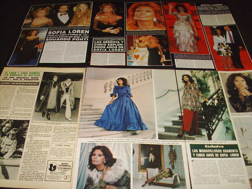 (ad039) sophia loren * recortes revistas clippings