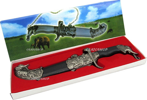 adaga aço elefante faca espada punhal bainha p/ colecionador