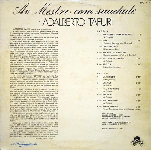 adalberto tafuri lp 1978 ao mestre com saudade 10951