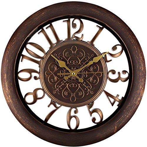 Adalene Relojes De Pared Grande Moderno Con Pilas No