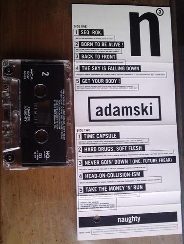 adamski naughty cassete tape raro hecho en u.s.a. 1991