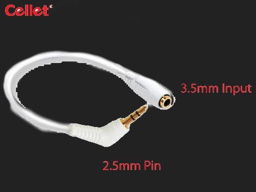 adapatador de bocinas 2.5 mm a 3.5mm, nuevo