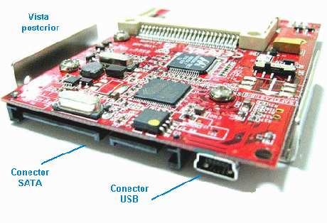 adapt 2 compact flash ( cf ) a sata o usb - raid 0, 1 y jbod
