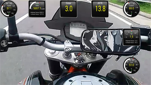 adapt. obd2 bluetooth ktm 390/200 pulsar rs200