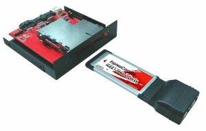 adapt. para usar sus expresscard 34/54 en el frente de su pc