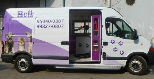 adaptação de veículos, pet shop móvel, van pet, banho e tosa