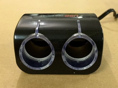 adaptador 12v a 2 puertos+ usb carga celulares gps notebook