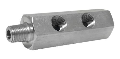 adaptador 3 entrada 1/8 npt pressão temperatura lubrificação
