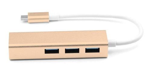 adaptador 3 puerto usb + red lan rj45 fast ethernet usb 2.0