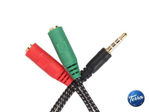 adaptador 3.5 c/mic. para ps4