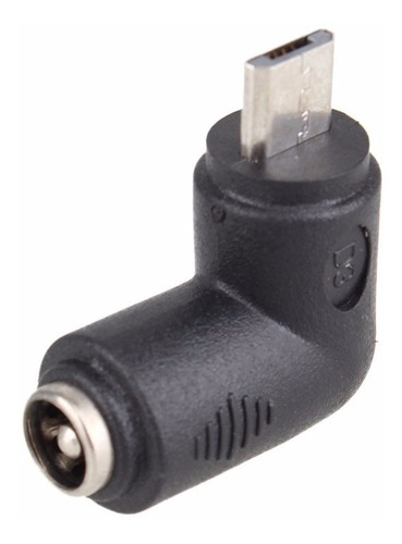 adaptador 90 grados micro usb a 5.5 x 2.1 mm