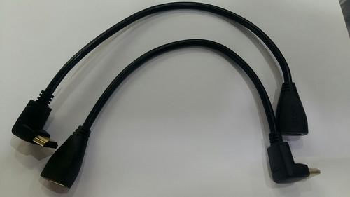 adaptador 90 graus l cabo hdmi macho fêmea joelho painel tv