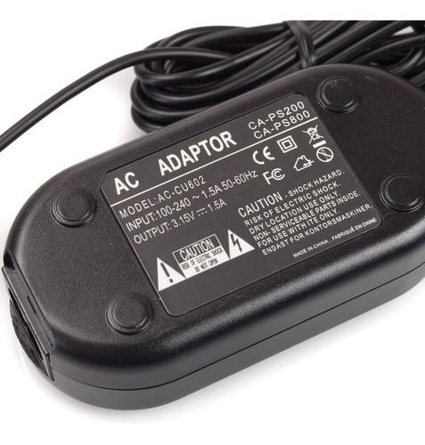 adaptador ac para canon ack-800 powershot sx100 sx120 is a72